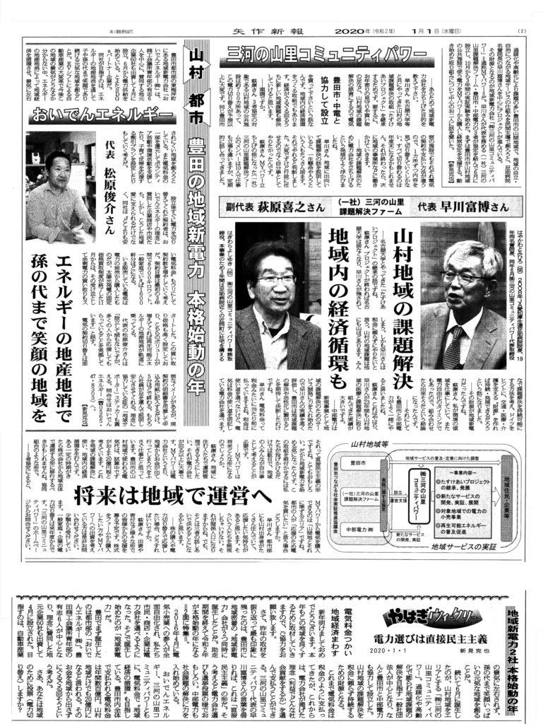 矢作新報-2020年1月1日掲載